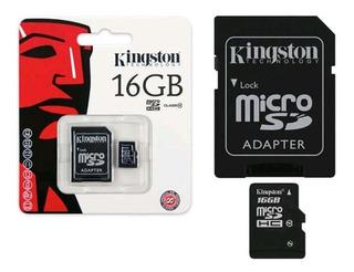 Cartão De Memória Micro Sdhc 16gb Adap Sd Classe10 Kingston