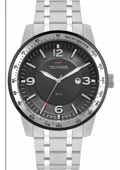 Relógio Technos Masculino Prateado 2117lbc/1p