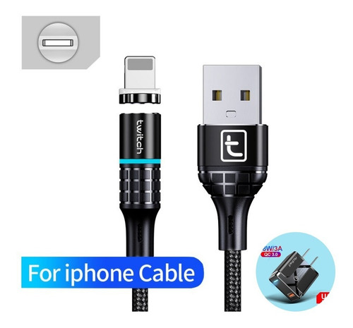 Combo Cable Tipo C Micro Usb iPhone Carga Rápida 3a 2 Mt