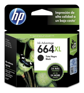 Cartucho Hp 664xl Negro Original F6v31al 1115 2135 2136 2138