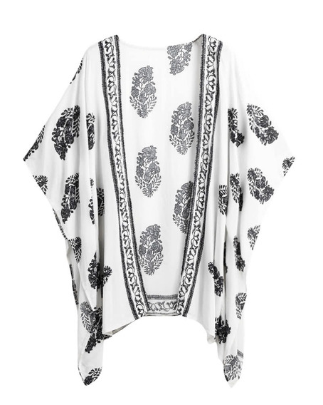 Bikini De Verano Cubre Hasta Kimono Floral De Playa Kimono