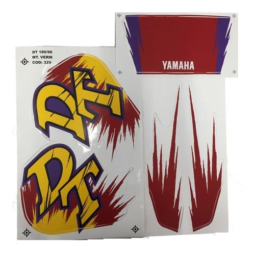 Imagem 1 de 2 de Kit Jogo Adesivo Faixa Yamaha Dt 180 1996 1997 Vermelha 329