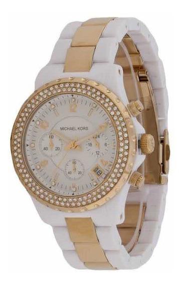 Relógio Michael Kors Branco Dourado