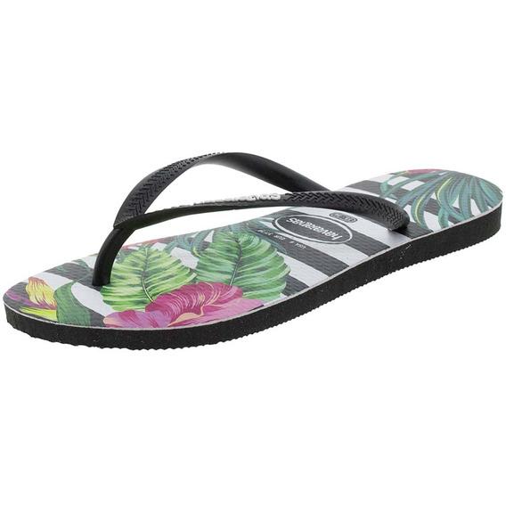 Chinelo Feminino Slim Tropical Floral Havaianas - 4139406
