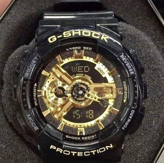 Relogio Casio G-shock Ga110-gb Preto/dourado