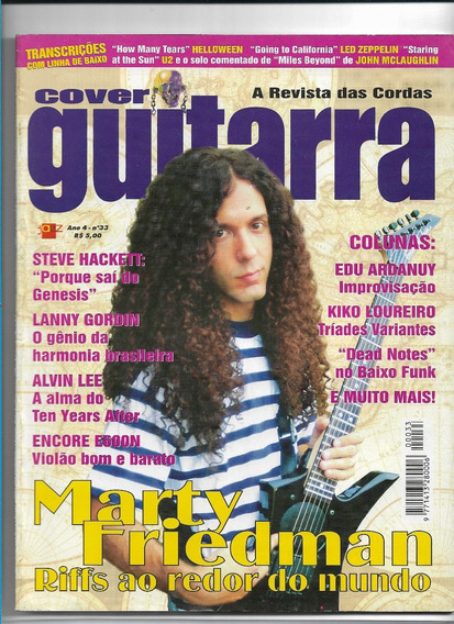 Cover Guitarra 33 Revista Marty Friedman