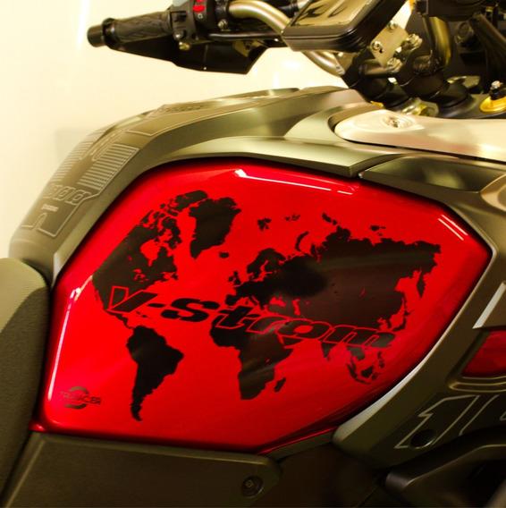 Adesivo Protetor Lateral Tanque Suzuki V Strom 1000 Mapa