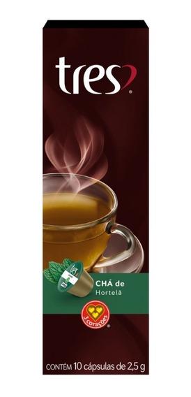 Chá De Hortelã Três Caixa Com 10 Cápsulas 2,5g