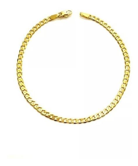 Pulseira Groumet Laminada Ouro 18k (750)