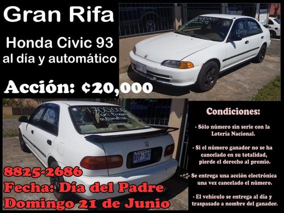 Rifa De Honda Civic 93 Automático