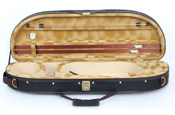 Estojo Case Meia Lua Para Violino 4/4 Luxo Térmico Orquezz