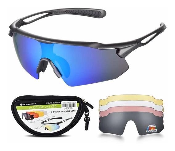 Gafas De Ciclismo Para Hombre Y Mujer Con 5 Lentes Interc