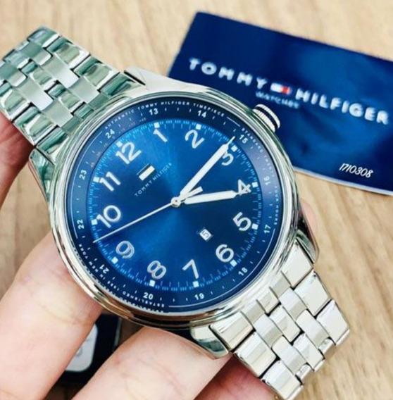 Relógio Tommy Hilfiger Metal Blue Original 17103038