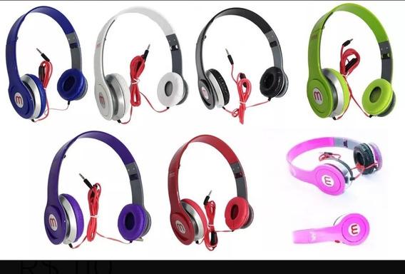 Fone Ouvido Headphone Coloridos Kit 2 Pç
