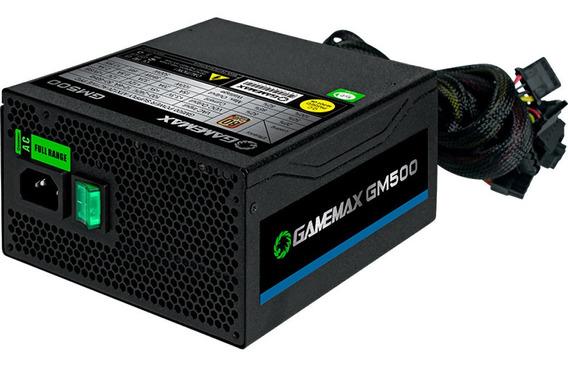 Fonte Gamer 500w Gamemax 80 Plus Bronze Gm500 Com Cabo
