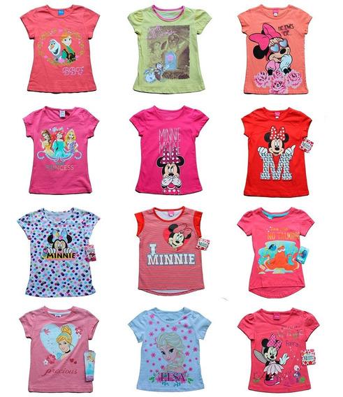 Lote 10 Playeras Niña Disney Princesas Peppa Envio Gratis