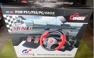 Control Volante Pedales Palanca 5 En 1 Para Pc Ps3 Ps2 Xbox