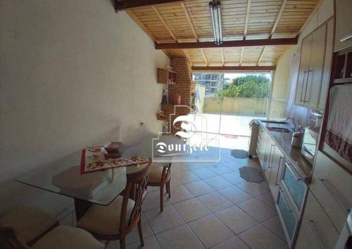 Cobertura Com 3 Dormitórios À Venda, 138 M² Por R$ 430.000,00 - Vila Pires - Santo André/sp - Co11946