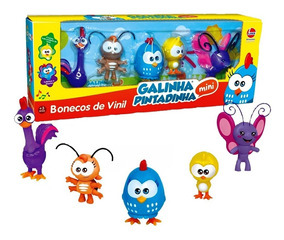 Bonecos Da Galinha Pintadinha Mini - Vinil Atóxico - Lider