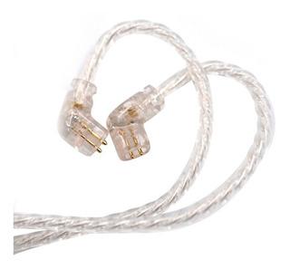Cable Plata Para Audífonos Kz Zsn Zsn Pro As10 As16 Zs10 Pro