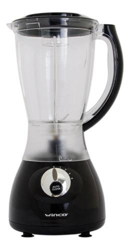 Licuadora Winco W1902 con jarra de plástico 220V negra