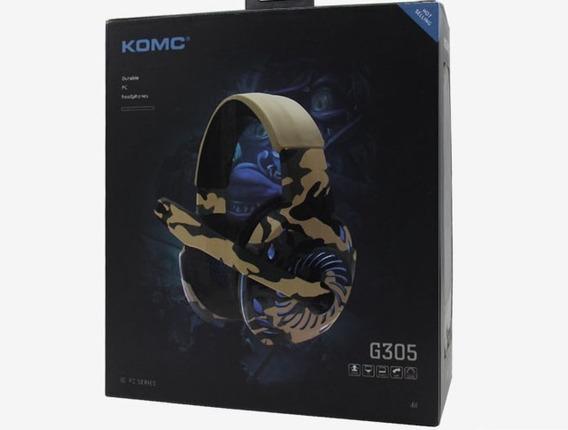 Fone De Ouvido Gaming Para Pc- Komc G305 Camuflada Gamer
