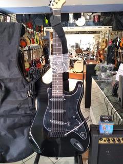 Guitarra Electrica Bellator De Paquete Negra Mod.negp10wstbk