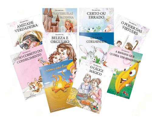 Coleção 10 Livros Infantil Era Uma Vez Contos Sobre Virtudes