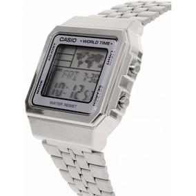 Relógio A500wa-7df Vintage Collection Prata Digital - Casio