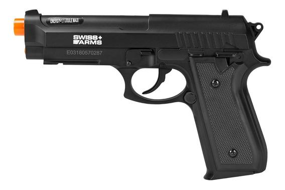Pistola Airgun À Gás Co2 Swiss Arms Pt92 Bax Nylon Fiber Gnb 4,5mm - Cybergun