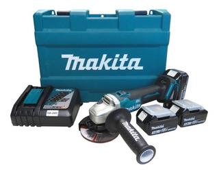 Esmerilhadeira Angular + 3 Baterias Maleta Dga455rfe Makita