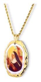 Medalha De Santa Rita De Cássia Ouro Design Medalhas