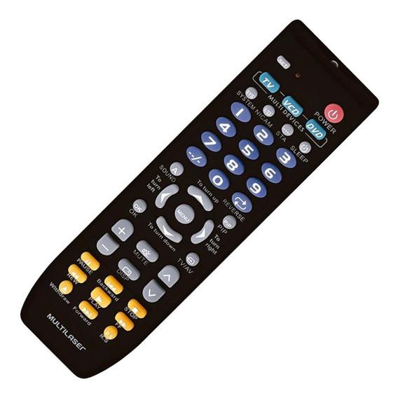 Controle Para Tv/dvd E Vcd Universal Preto Ac088 Multilaser