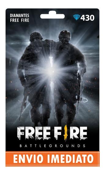 Free Fire 430 Diamantes Recarga +10% Bônus P/ Conta