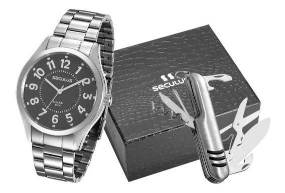 Relógio Seculus Masculino 28866gosvna4
