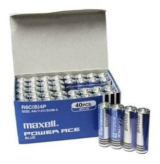 Pila Maxell Doble A, Caja 160 Unid Carbón+despacho