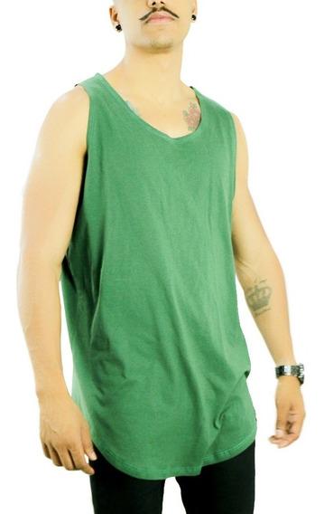 Regata Longline Oversized Masculina Redonda Camisa Meio Swag