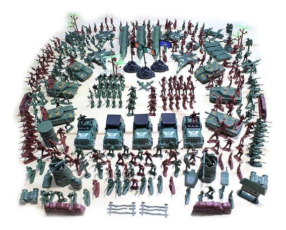 Bonecos Soldados De Plástico Brinquedo Kit Com 307 Unidades