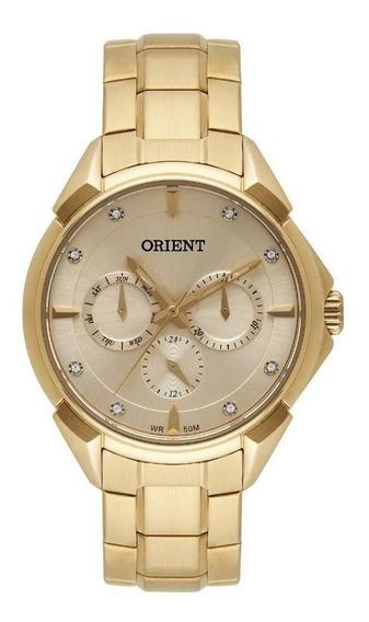 Relógio Orient Dourado 36mm Dourado Fgssm061 C1kx Wr50m