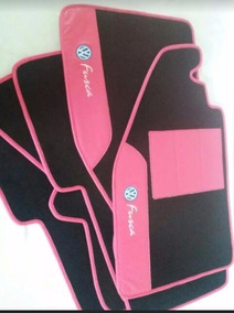 Tapetes Automotivos Fusca Personalizados Detalhes Rosa