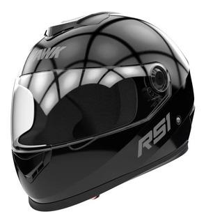 Casco para moto integral Hawk RS1 negro brillo talle XL