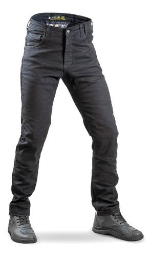 Pantalon Jean  Negro Moto Protecciones Solco Motoscba