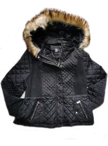 Jaqueta Plus Size Nylon Feminina Casaco Capuz Remove Inverno