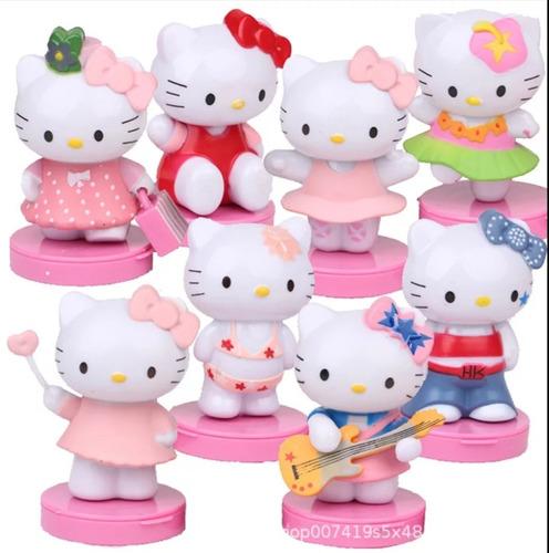 Imagen 1 de 4 de Set De 8 Figuras De Colección Hello Kitty Distintos Estilos