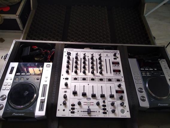 Par Cdj 200 Pioneer + Mixer Behringer Djm 750 + Case