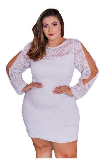 Vestido Plus Size Feminino Renda Moda Roupas Femininas