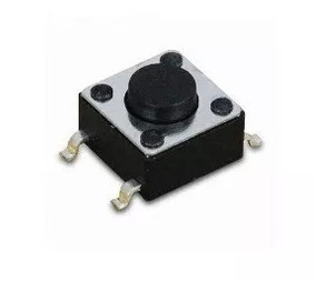 10 Pçs Micro Chave Push Button 4 Pinos 4.5x4.5x3.8 Smd