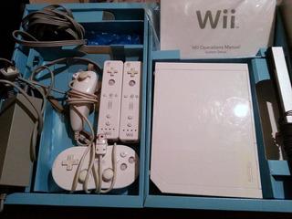 Nintendo Wii Accesorios Con Juegos Originales Y 3 Controles