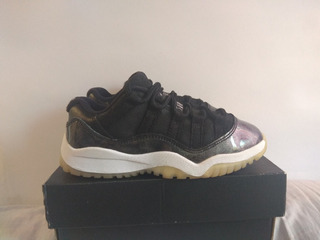 Air Jordan Retro 11 Low Barons Negro Metallic, 17cm