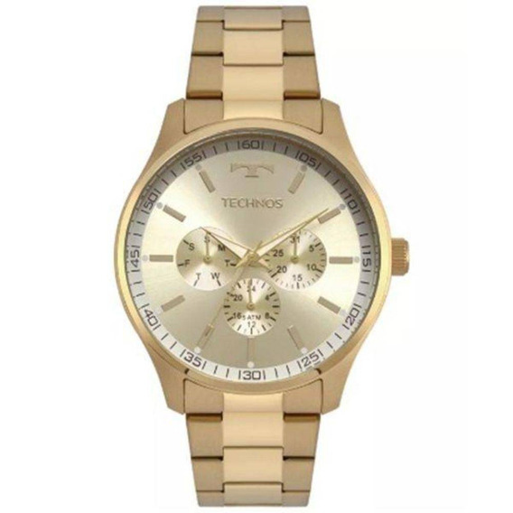 Relógio Technos Masculino Dourado Multifunção 6p29ajn/4x
